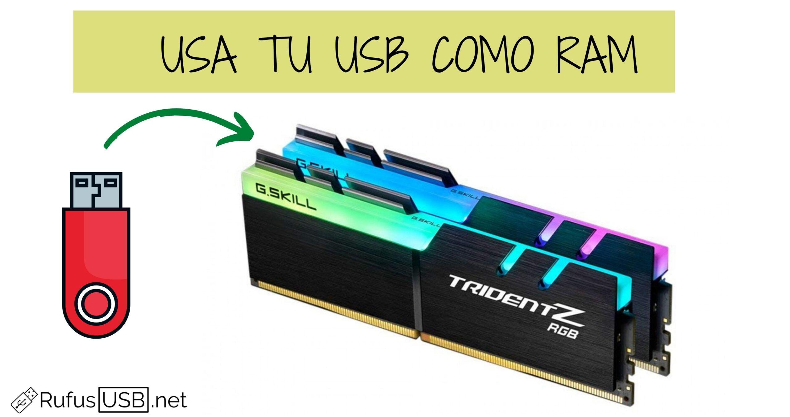 Cómo utilizar un USB como RAM