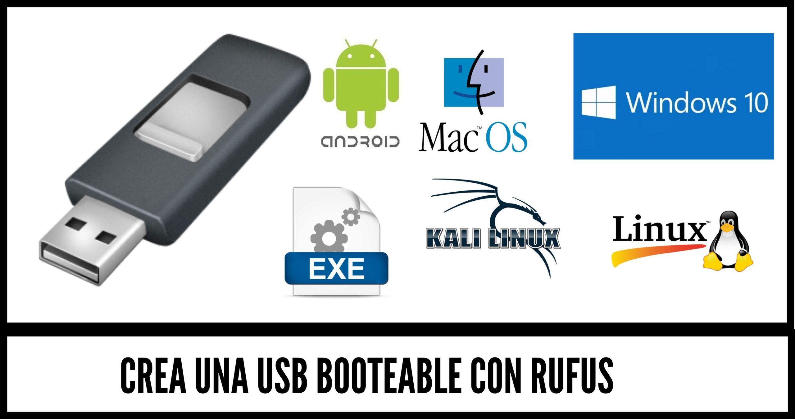 Crear una USB booteable