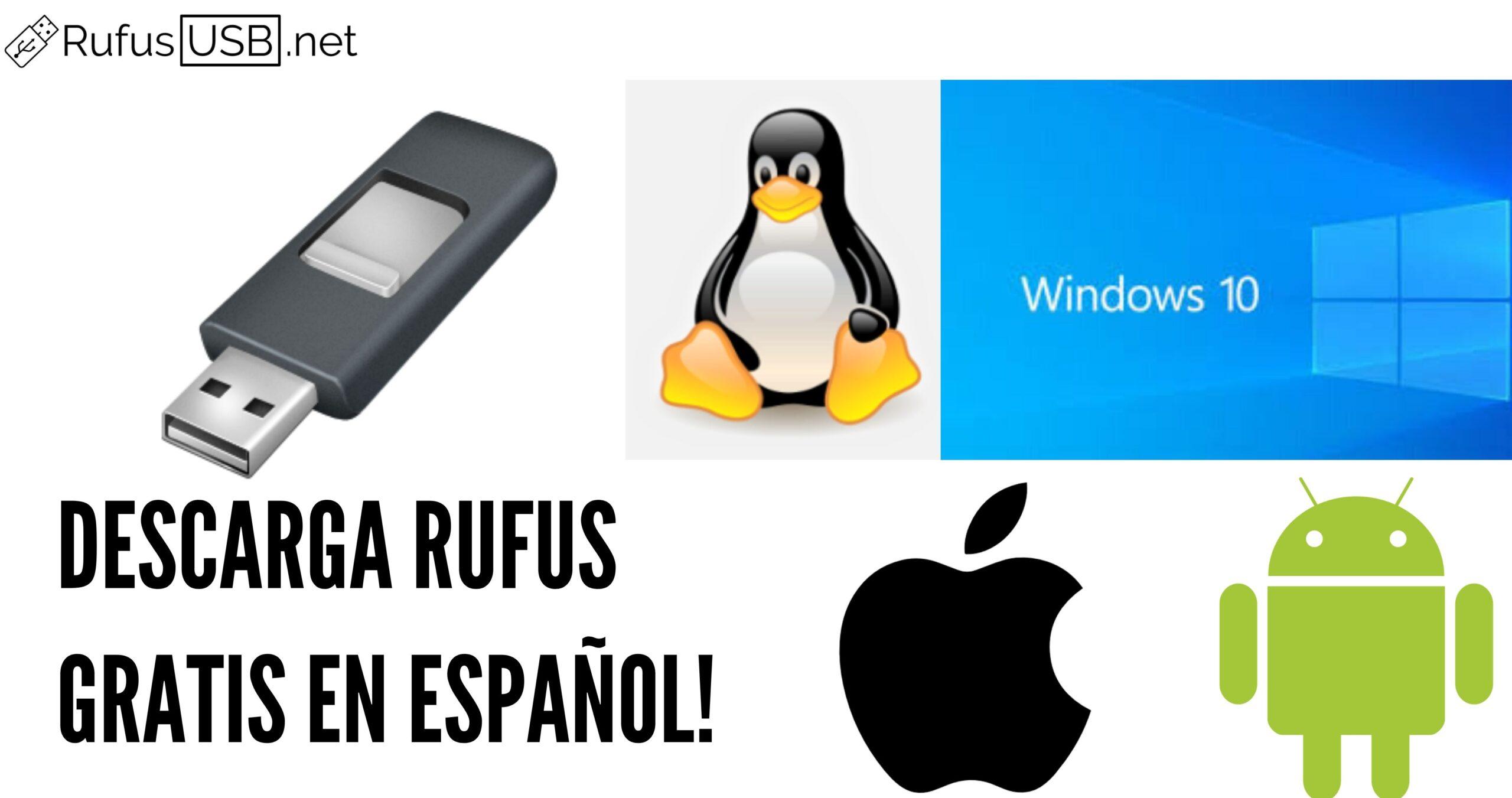 descargar rufus español gratis
