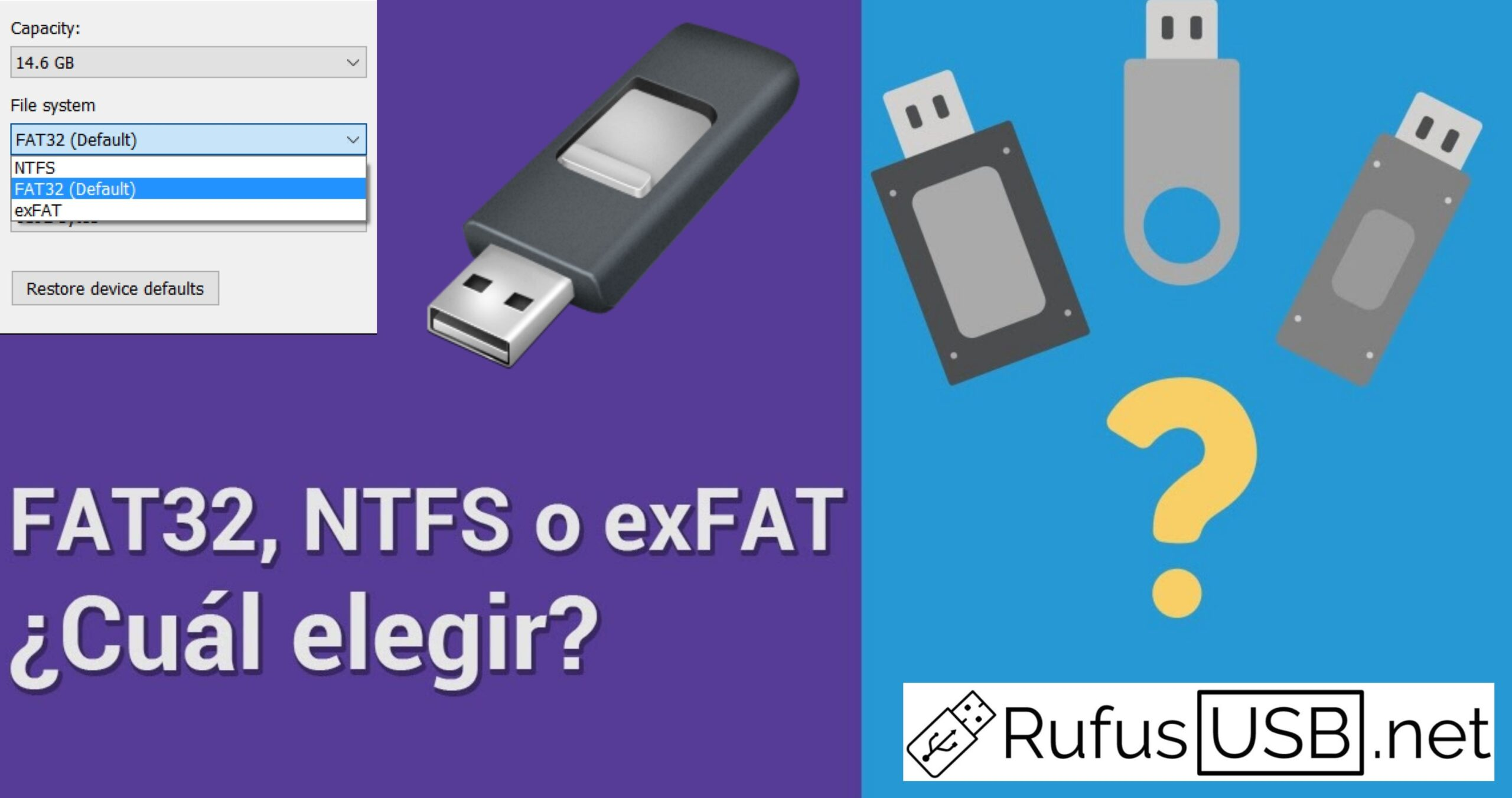 Diferencias entre FAT32, NTFS y exFAT