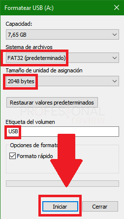 formatear usb windows